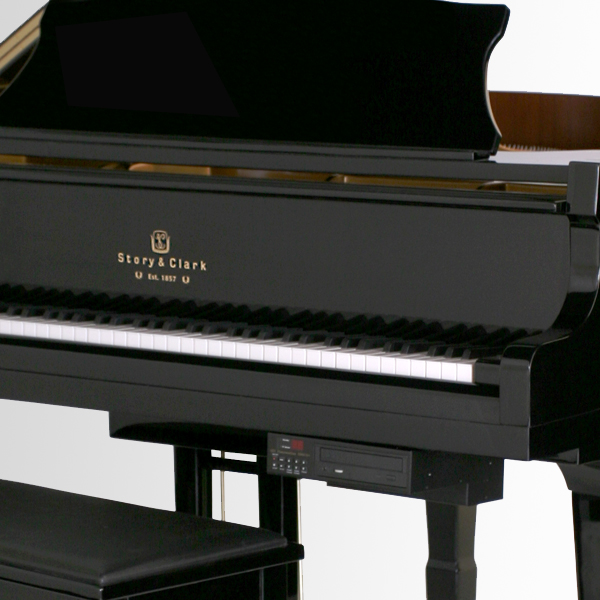 Digital piano with cd player