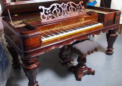 Western PianoForte Square Grand Piano, Rosewood (1 of 16)