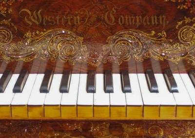 Western PianoForte, Rosewood, Mother of Pearl Inlaid, Square Grand Piano,1857