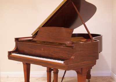 Steinway & Sons, Model S, Honduran Mahogany, 1923, Fully Restored