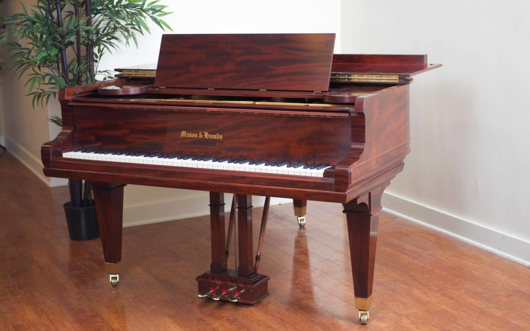 Mason & Hamlin, Mahogany,  Model AA, Parlor Grand, 1923, Fully Restored