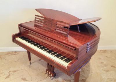 Wurlitzer Butterfly Grand Piano, Mahogany  Case, Art Deco Era
