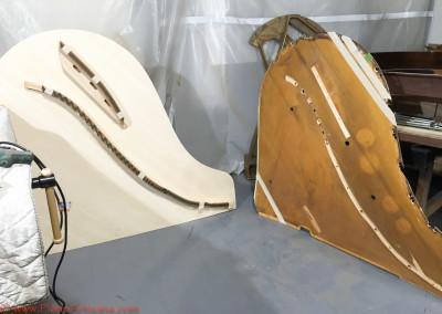 New Steinway Soundboard versus old soundboard