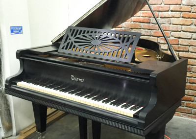 Ferd Thurmer, Satin Ebony, German Made Grand Piano, Fully Restored with Nickel Accents