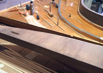 Steinway Style 1, Shimming the Original Soundboard,