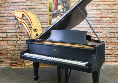 Steinway & Sons Grand Piano Model O, Ebony, 1922, Fully Restored
