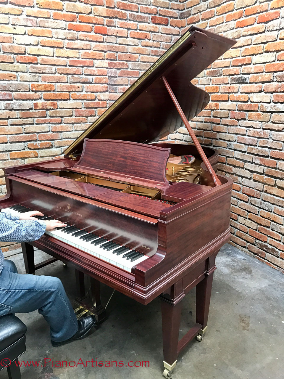 restored steinway player piano duo art model ar fully rebuilt. Black Bedroom Furniture Sets. Home Design Ideas