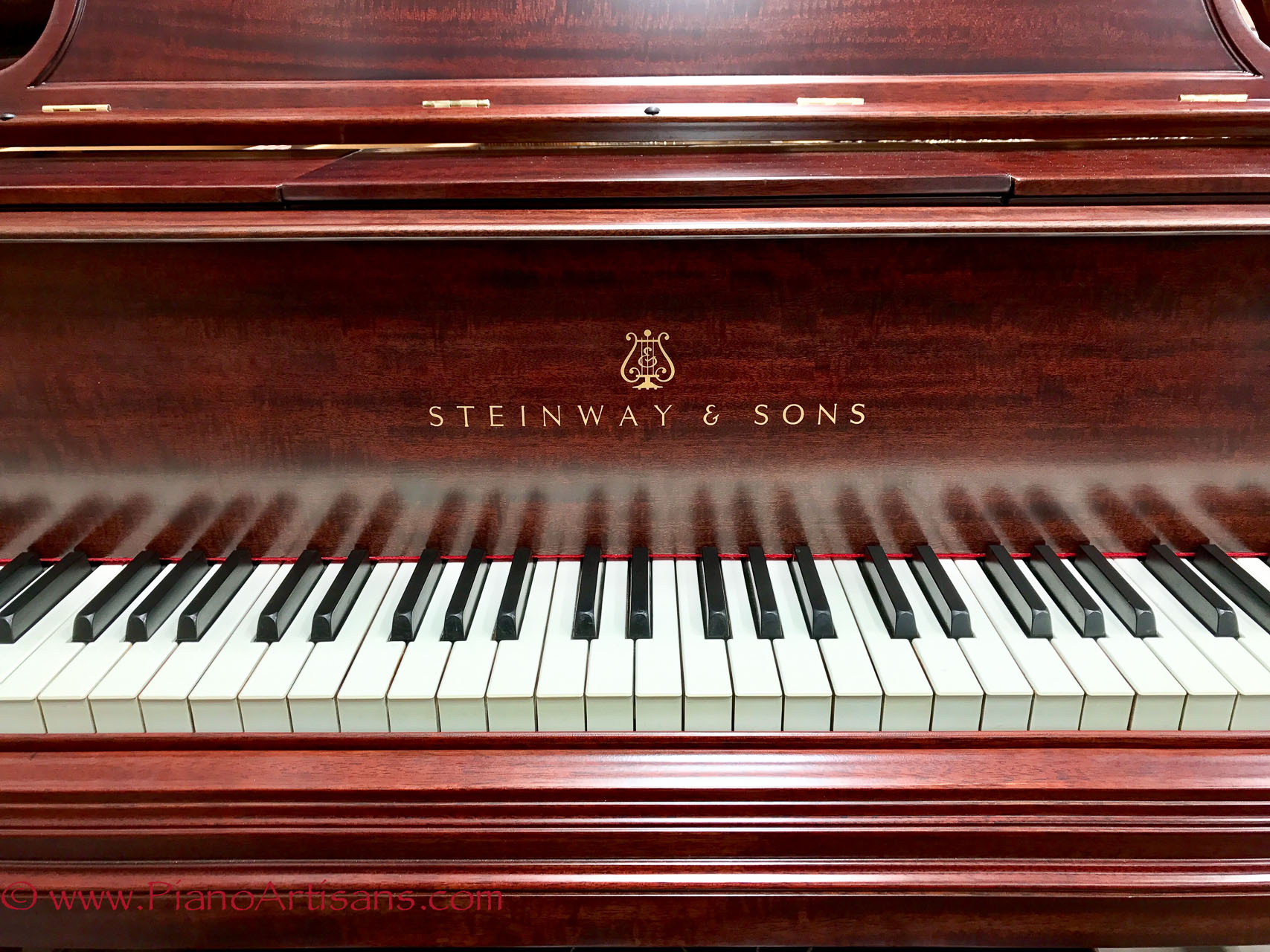 Restored Steinway Player Piano front view