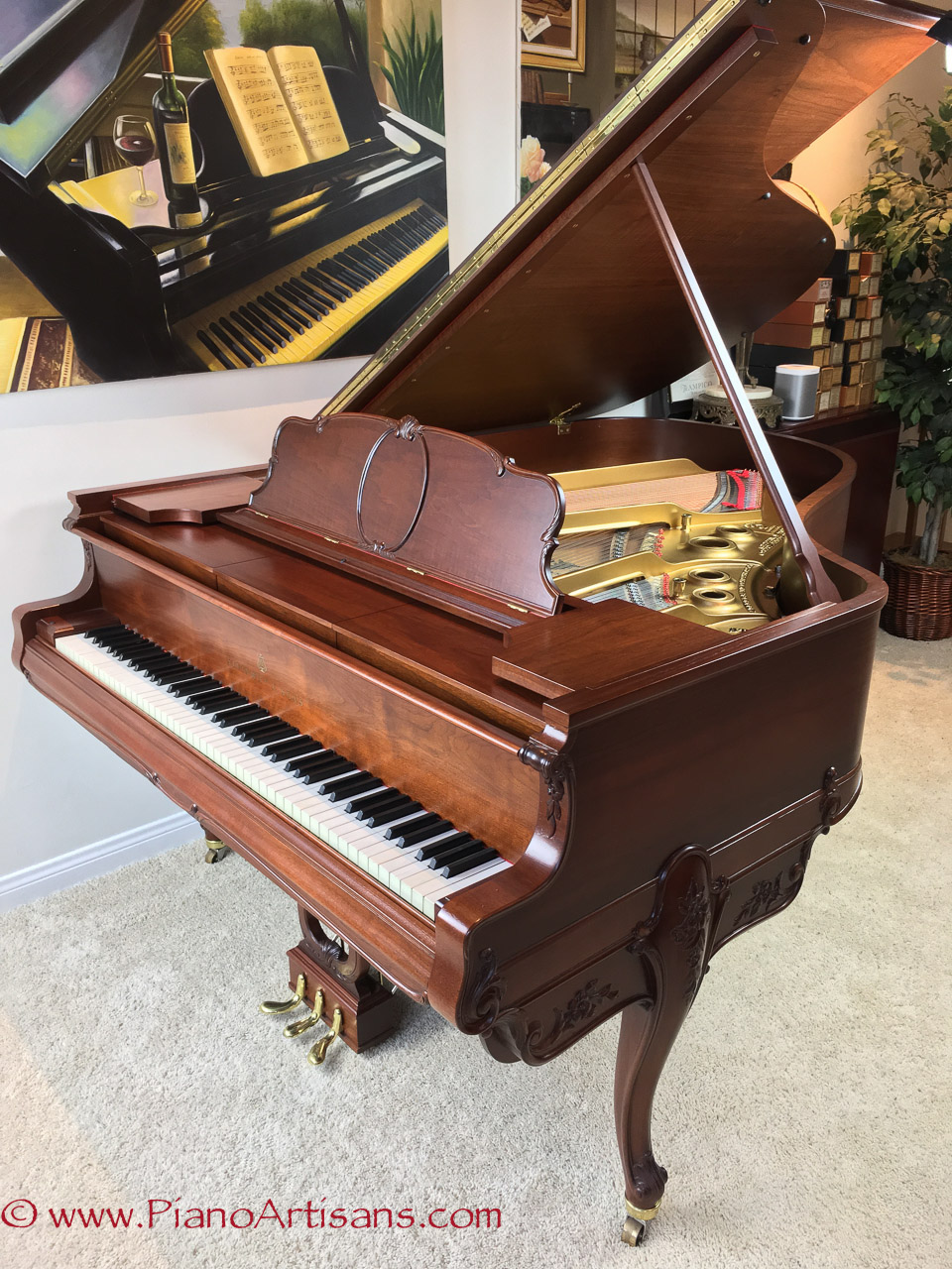 restored steinway sons duo art reproducing grand piano sale. Black Bedroom Furniture Sets. Home Design Ideas