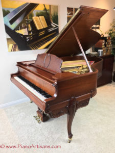 Restored Steinway & Sons Duo-Art, Side View